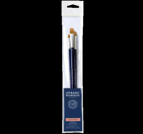 Acrylic Brush Set - Flat Brushes Lefranc Bourgeois