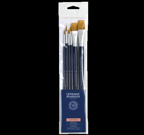 Acrylic Brush Set - 6 Brushes Lefranc Bourgeois
