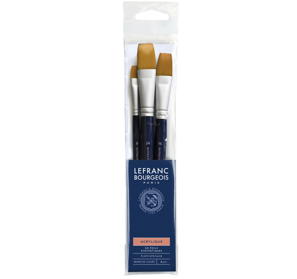 Acrylic Brush Set - Flat Brushes Lefranc Bourgeois