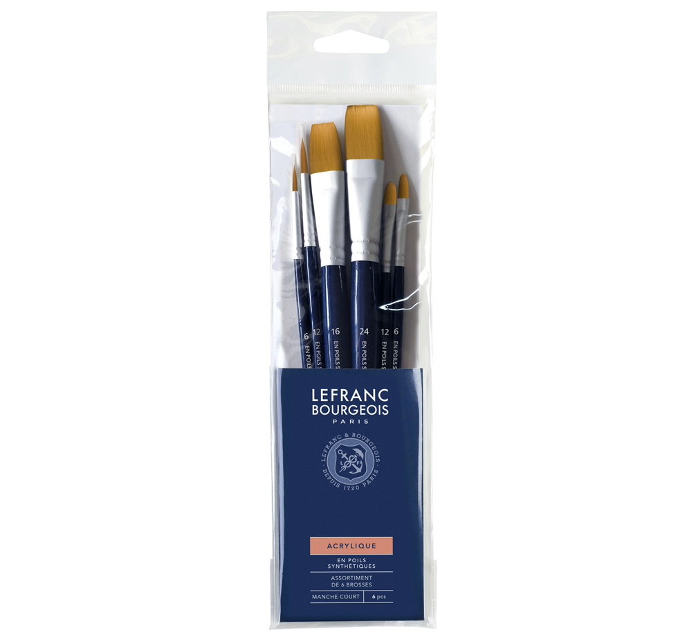 Acrylic Brush Set - 6 Brushes Lefranc Bourgeois