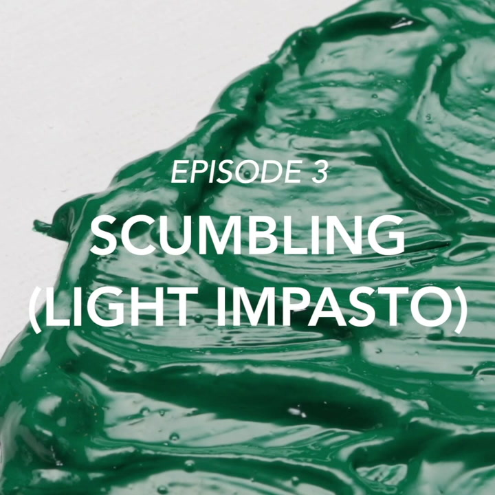 Scumbling (light impasto)