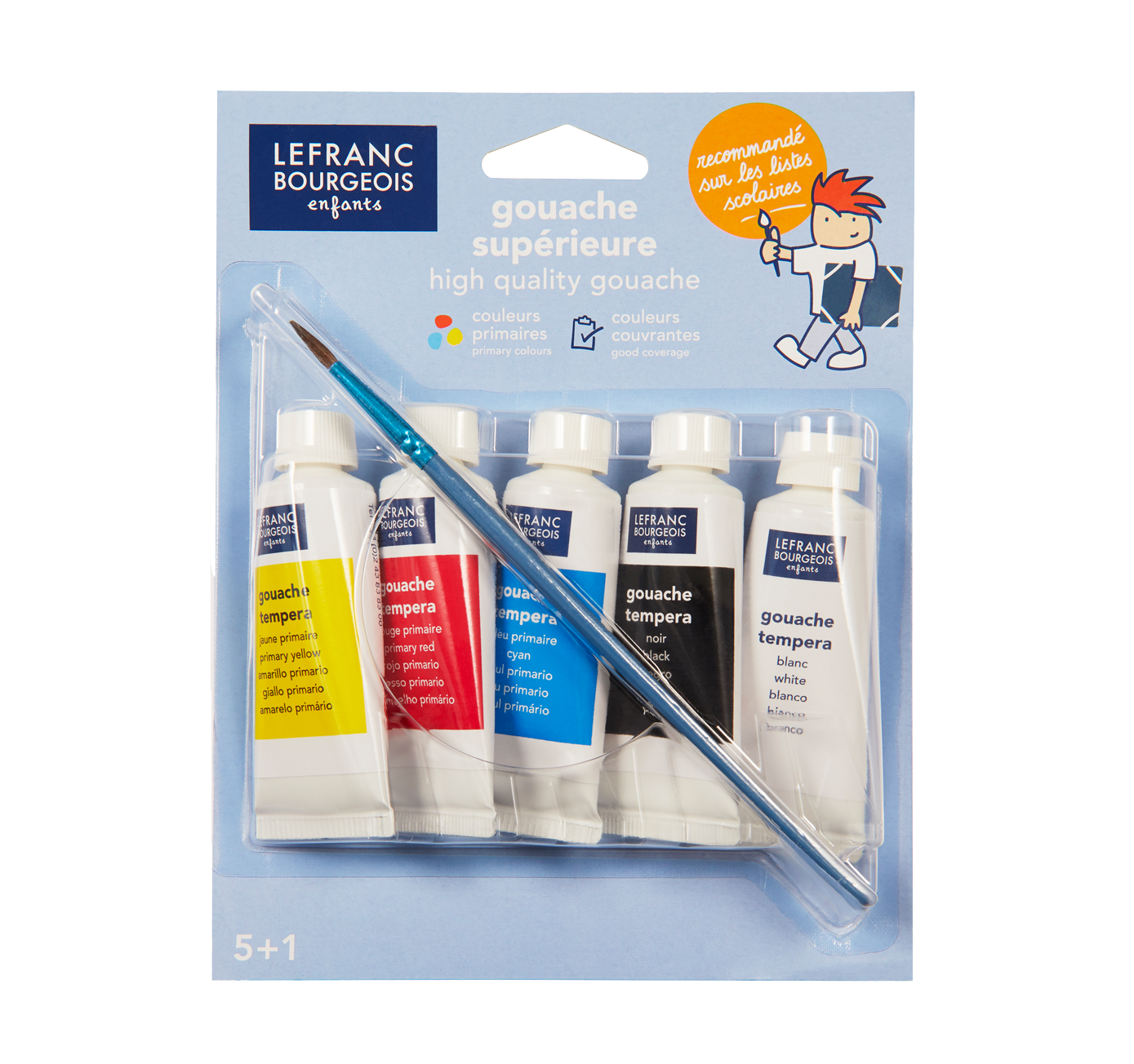High-quality gouache set with brush
