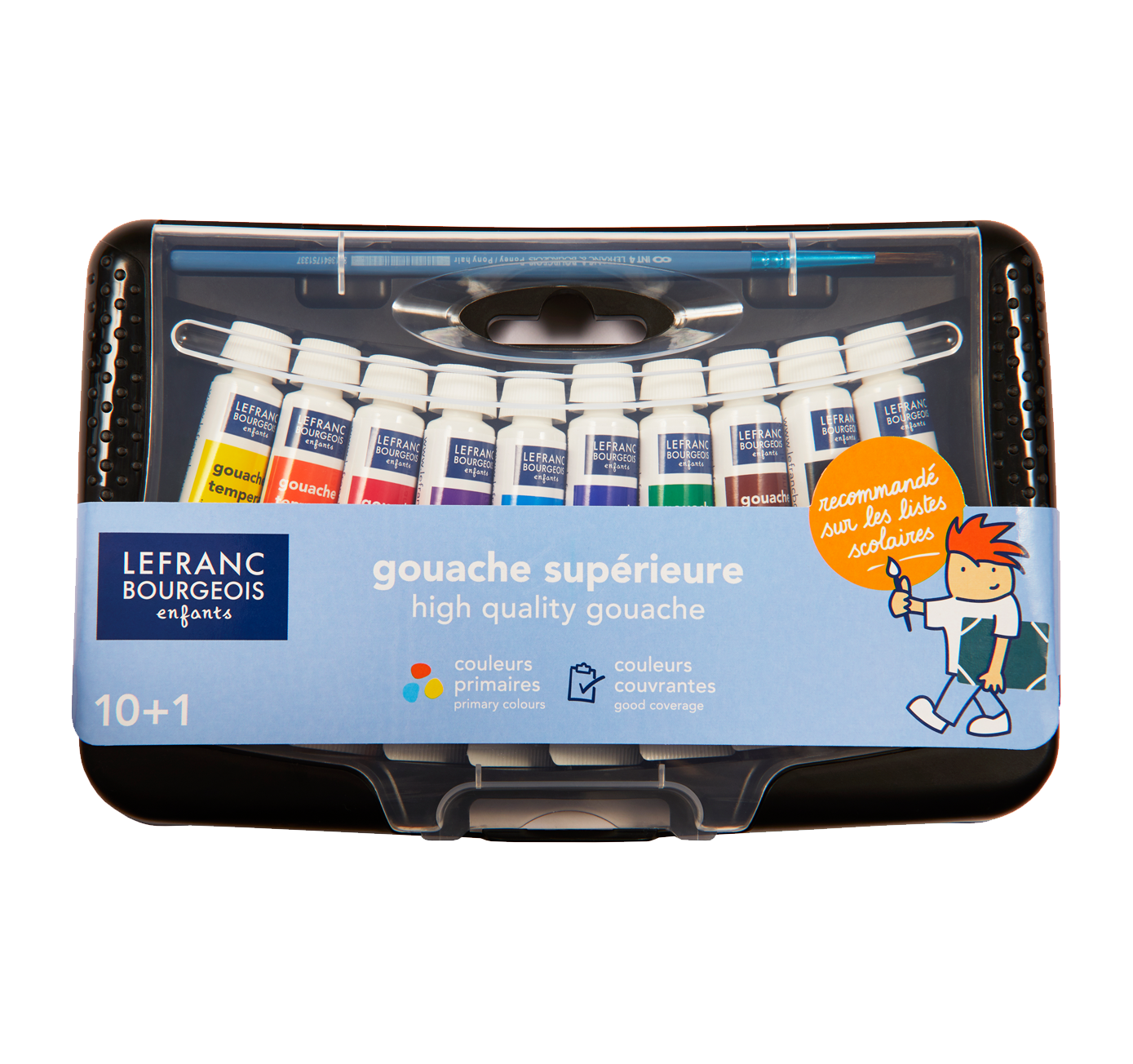 High-quality gouache box 10 colours