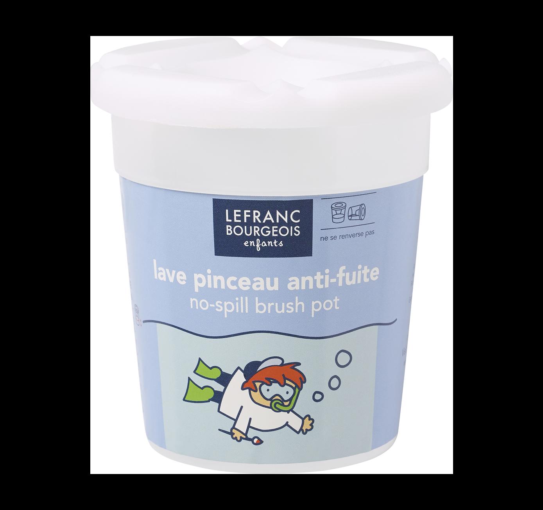 No-spill brush pot