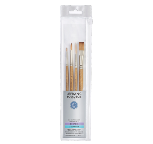 Lefranc Bourgeois Brushes Set Gouache Watercolour