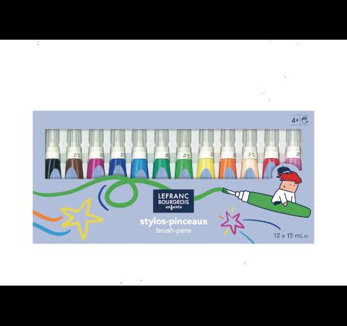 Brush pens – 12 colours