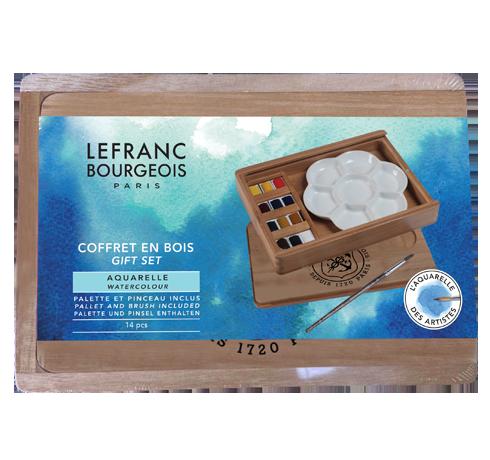 Fine Watercolour Wooden Box Gift Set Lefranc Bourgeois