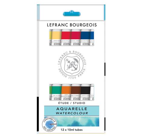 Studio Watercolour Set 12 Tubes Lefranc Bourgeois