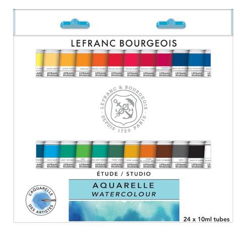 Studio Watercolour Set 24 Tubes Lefranc Bourgeois