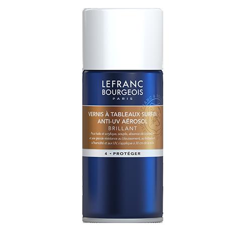 Lefranc Bourgeois - additif vernis à tableaux surfin anti-uv aérosol brillant