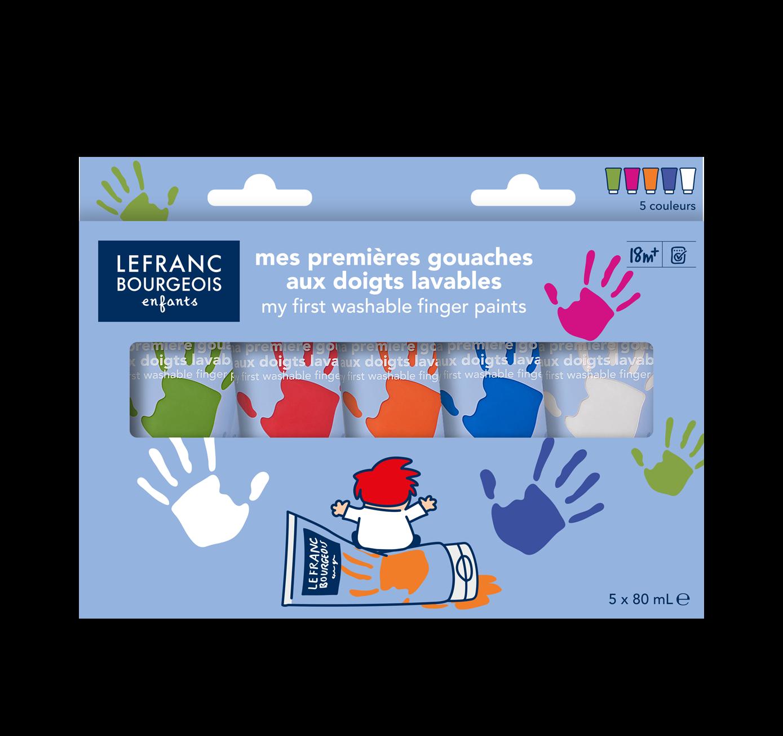 Mes premières gouaches aux doigts lavables – couleurs funs